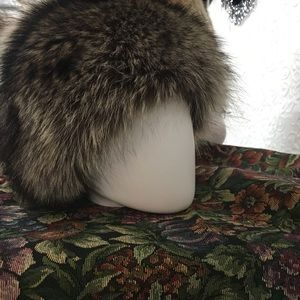 Coach Raccoon Fur Hat with Silk Size XS/S